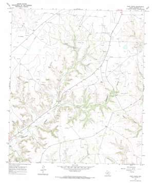 Hunt Ranch topo map