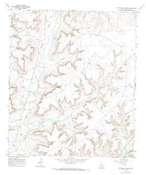 Mitchell Canyon topo map