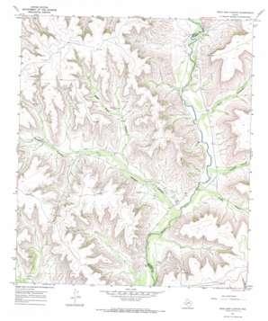 Dead Man Canyon topo map