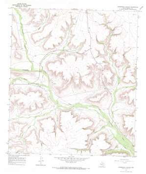 Horsehead Canyon topo map