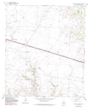 Crockett Heights topo map