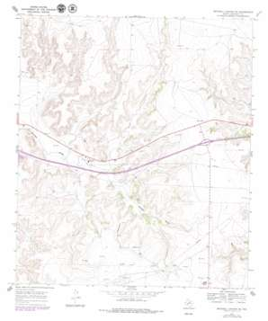 Mitchell Canyon Ne topo map