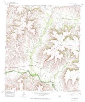 Fort Lancaster topo map