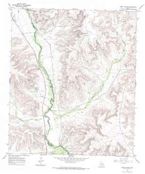 Deer Canyon topo map