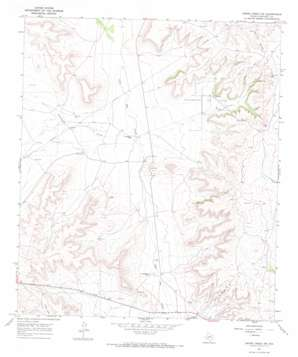 Owens Creek Nw topo map