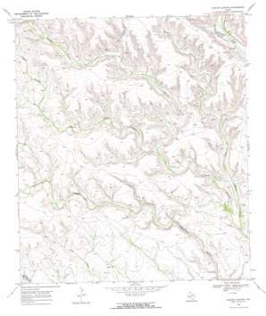 Hagler Canyon topo map