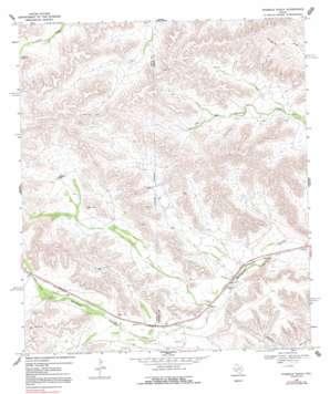 Ninemile Ranch topo map