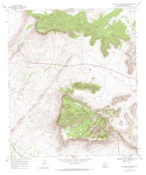 Housetop Mountains topo map