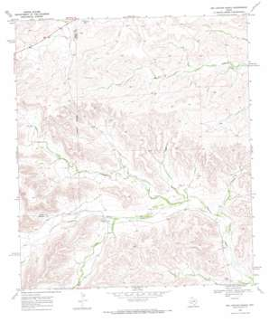 Big Canyon Ranch topo map