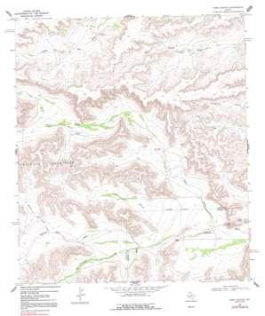 Toms Canyon topo map