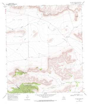 Cap Rock Butte topo map