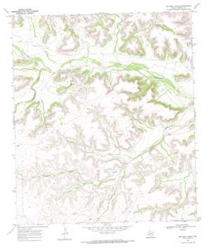Mitchell Draw topo map
