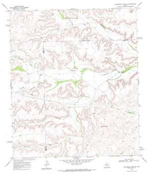 Hackberry Draw Se topo map