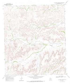 Hackberry Draw Sw topo map