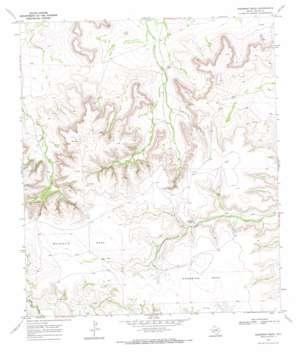 Sherbino Mesa topo map