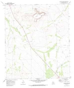 Fivemile Mesa topo map