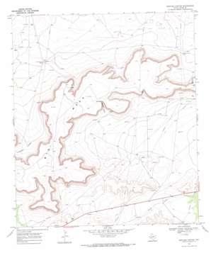 Bootleg Canyon topo map
