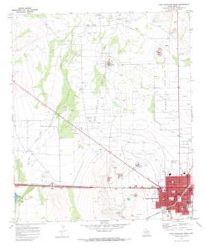 Fort Stockton West USGS topographic map 30102h8