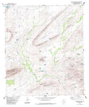 Horse Mountain topo map