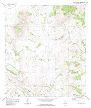 Goat Mountain topo map