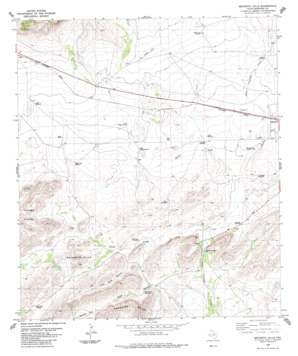 Beckwith Hills topo map