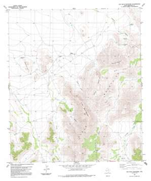 Old Blue Mountain topo map