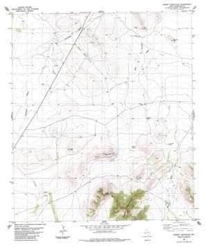 Bissett Mountain topo map