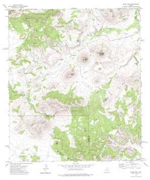 Mitre Peak topo map