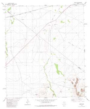 Hovey topo map