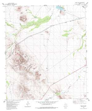 Hovey Sw topo map