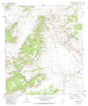 Henderson Mesa topo map