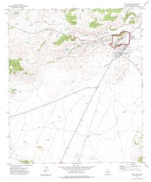 Fort Davis topo map