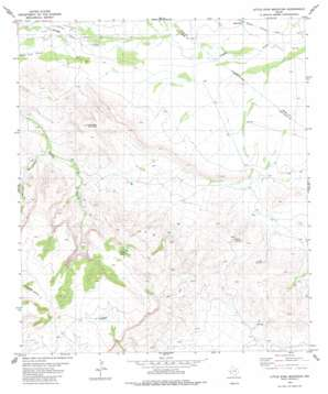 Little Star Mountain topo map