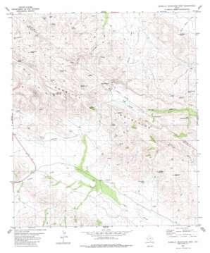 Barrilla Mountains West topo map