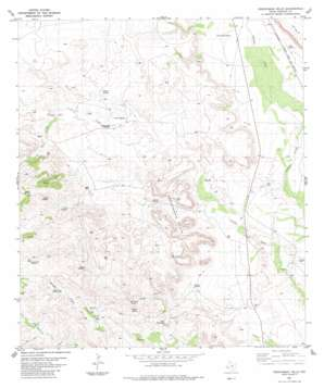 Frenchman Hills topo map