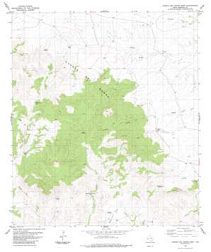 Cuesta Del Burro East topo map