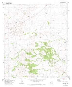 Oak Creek topo map