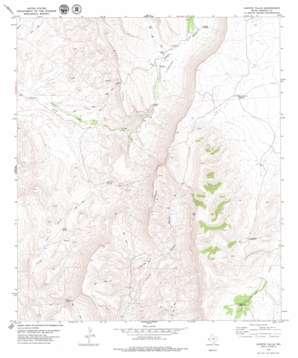 Capote Falls topo map