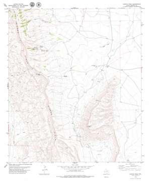 Capote Peak topo map