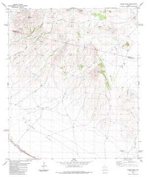 Burro Draw topo map