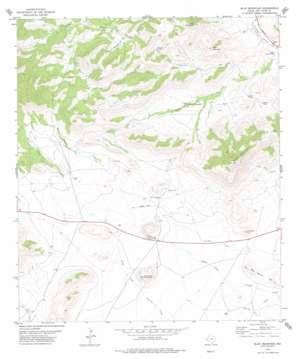 Blue Mountain topo map
