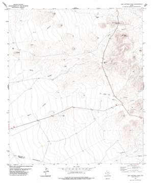 San Antonio Pass topo map
