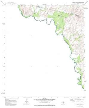 Bennett Ranch topo map