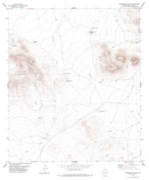 Horseshoe Butte topo map