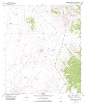 Robbers Roost Canyon topo map
