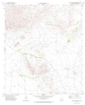 Chispa Mountain Nw topo map