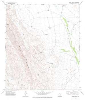 Cedar Arroyo topo map