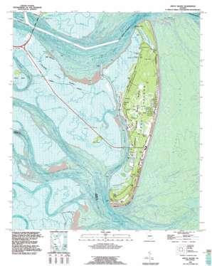 Jekyll Island topo map