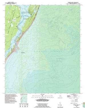 Cabretta Inlet topo map