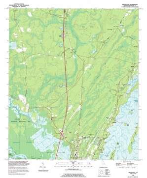 Ridgeville topo map